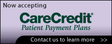 We accept CareCredit